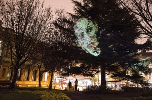 Wolverhampton Fine Art Students participate in Tony Oursler installation