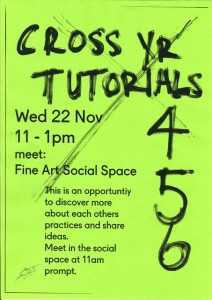 Cross Year Tutorial / Wed 22 Nov, 11 AM