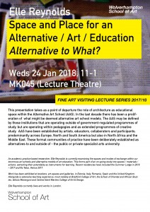 Alternative Art Schools, 24 Jan 2018, 11AM